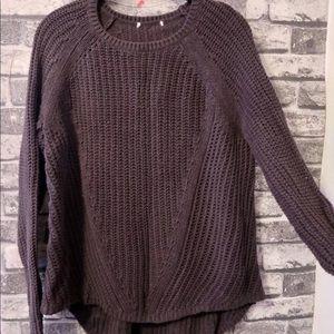 Knit Sweater (W's Large, Dark Gray)